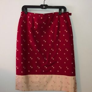 Red and Gold Skirt